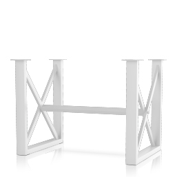 Square X Style Bar Table Base (set of two)